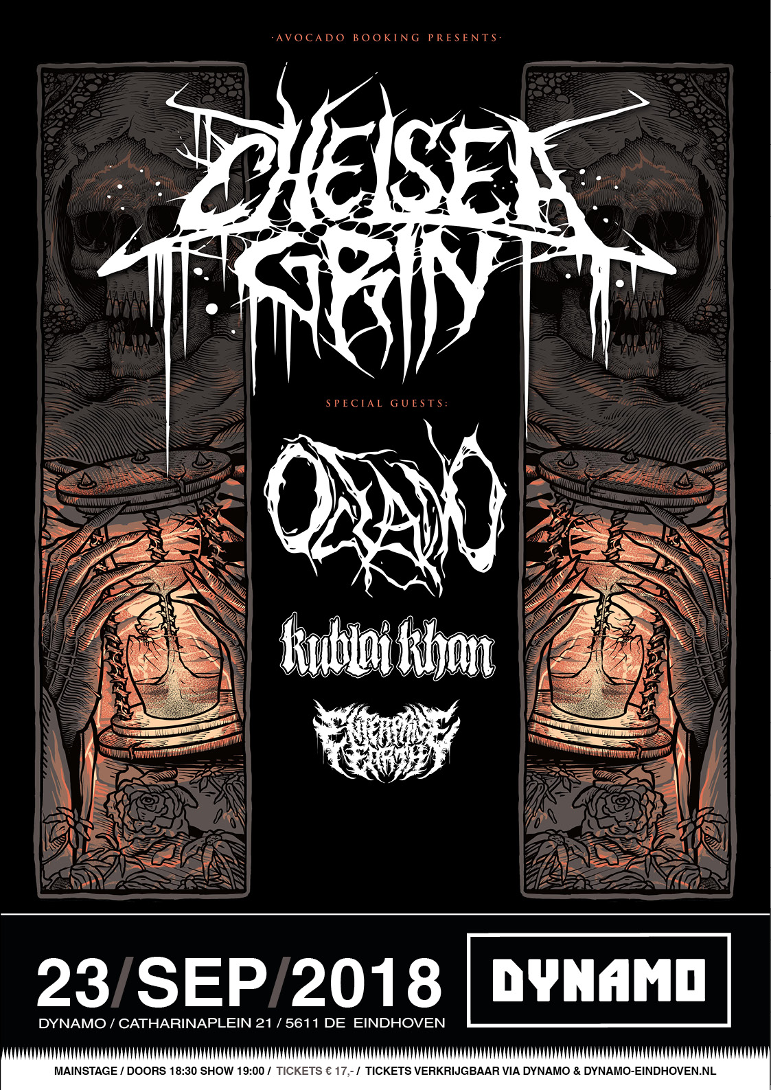 Chelsea Grin flyer @ Dynamo Eindhoven