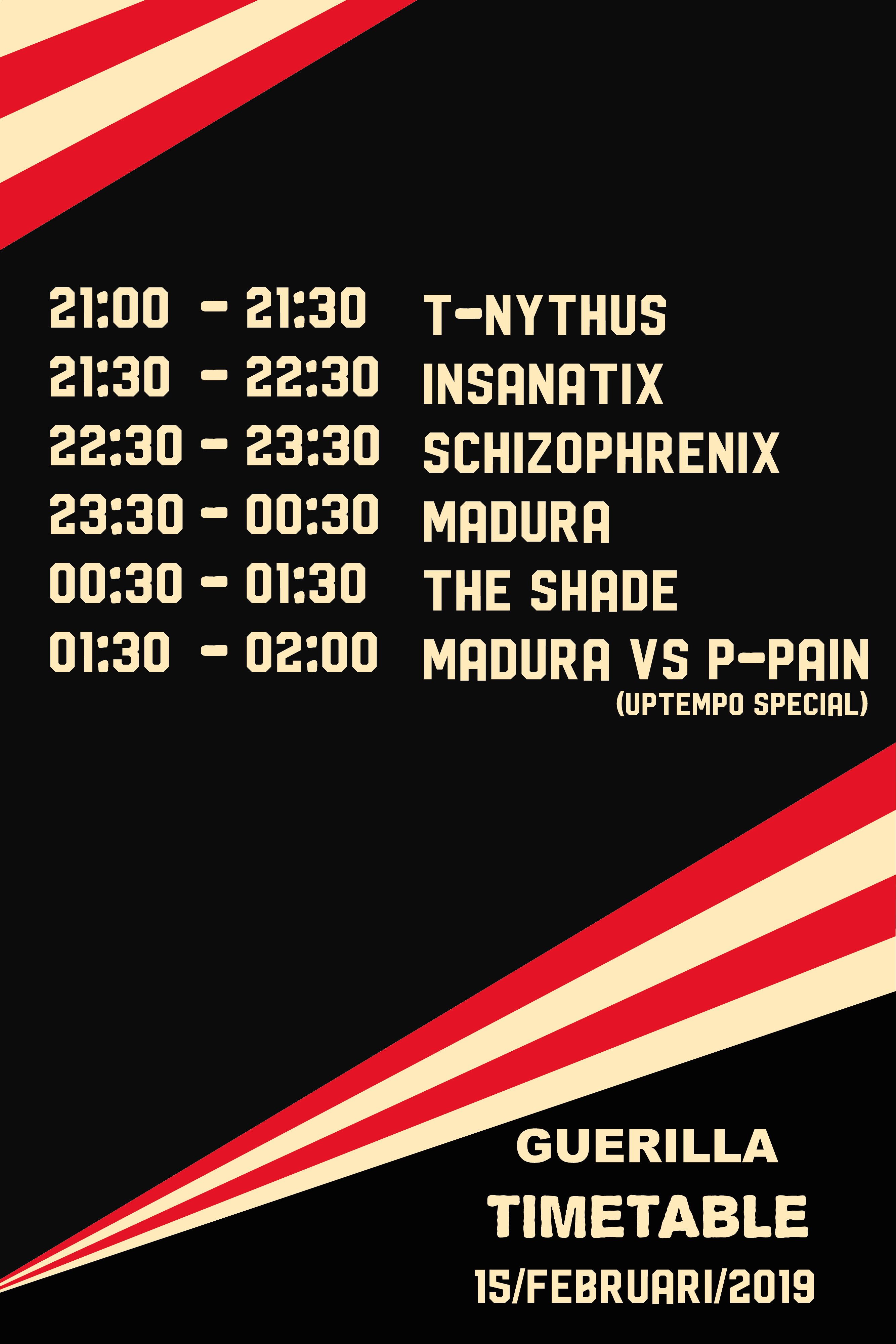 Guerilla Timetable